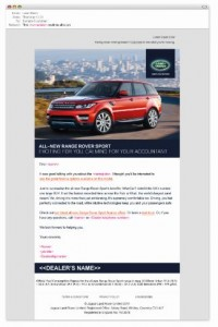 Rang Rover Sport email